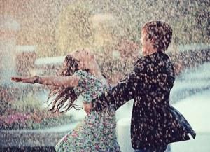 chuva e amor